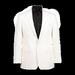 Coat Hood Belted – White
